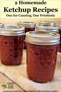 homemade ketchup in canning jars
