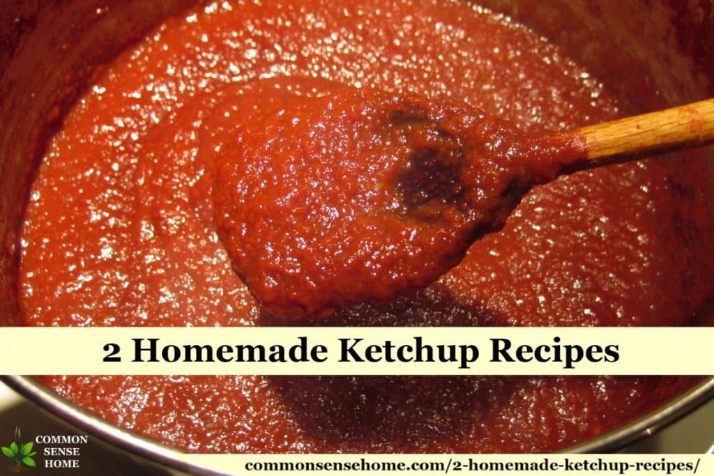 Ketchup cooking in pot
