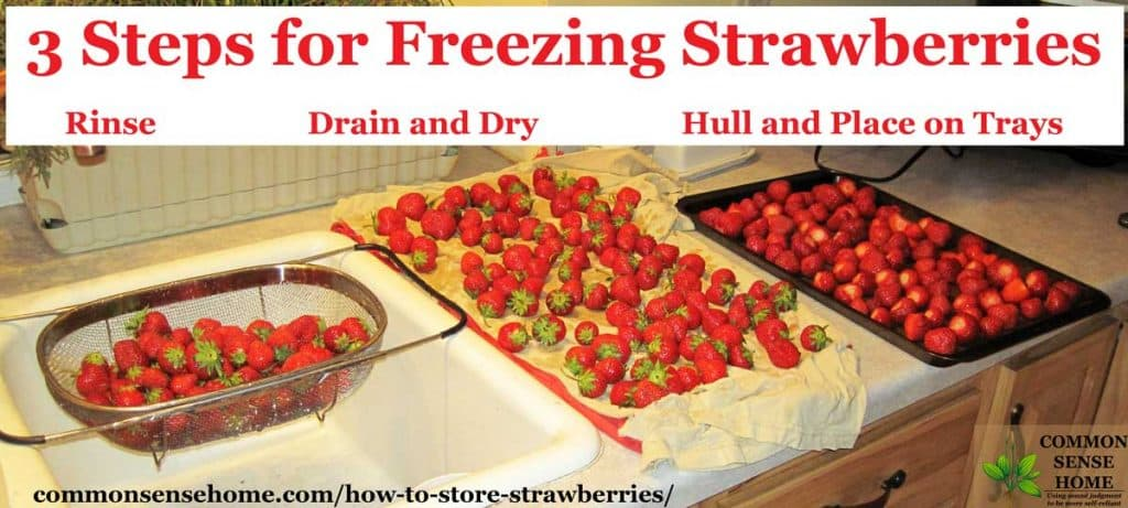 how to freeze strawberries step by step photos