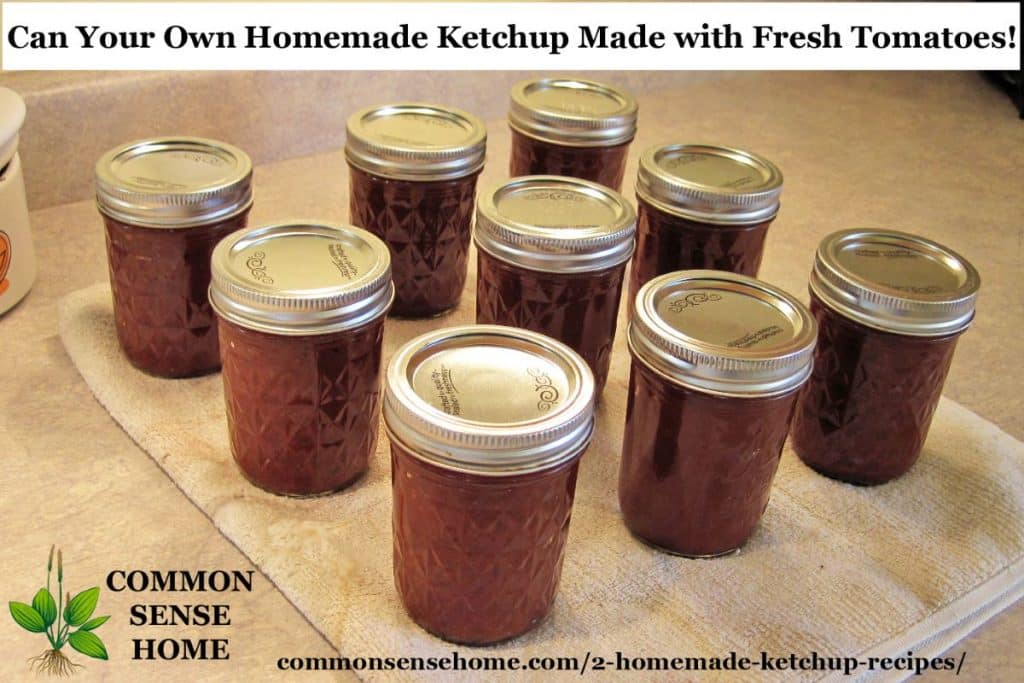 Canned ketchup jars