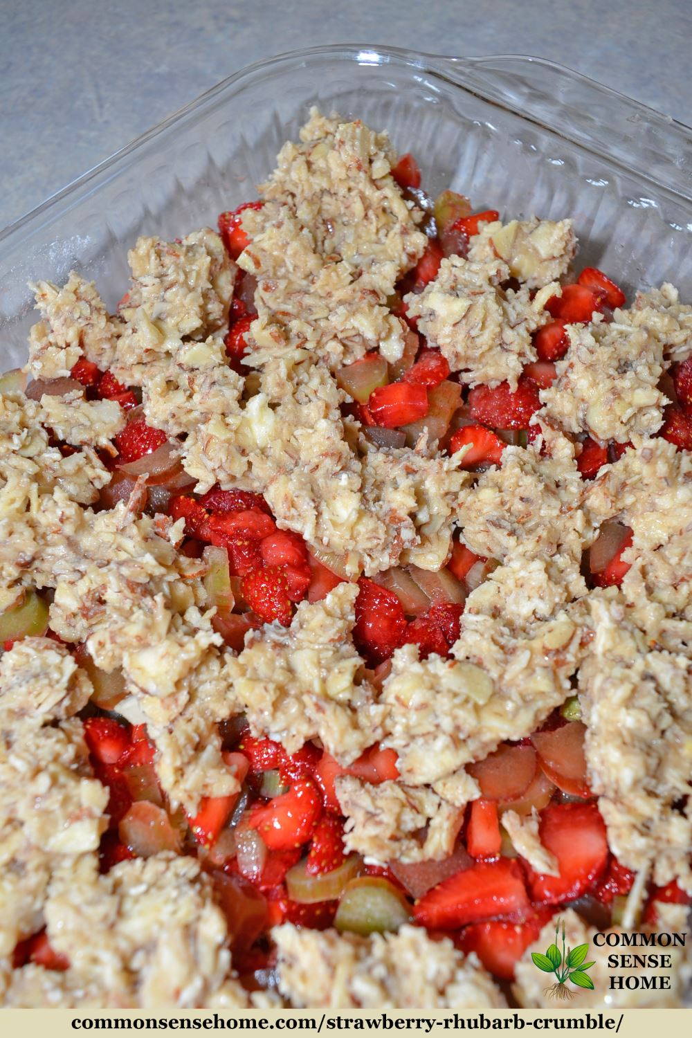 Strawberry Rhubarb Crumble - Quick and Easy, Gluten Free