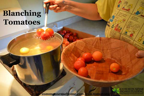 Can tomatoes at home - with or without a canner. Here are the tools you need and step by step instructions (with photos!) for safe and easy tomato canning.