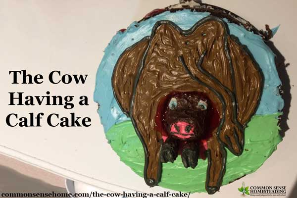 The cow having a calf cake is a sweet reminder of just how creative moms can be to make their children's birthdays special.