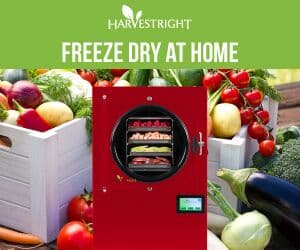 red home freeze dryer with produce