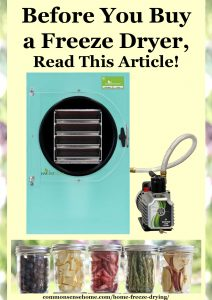 home freeze dryer and freeze dried food in jars