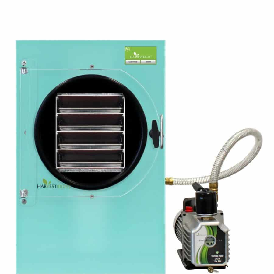 teal medium home freeze dryer with pump