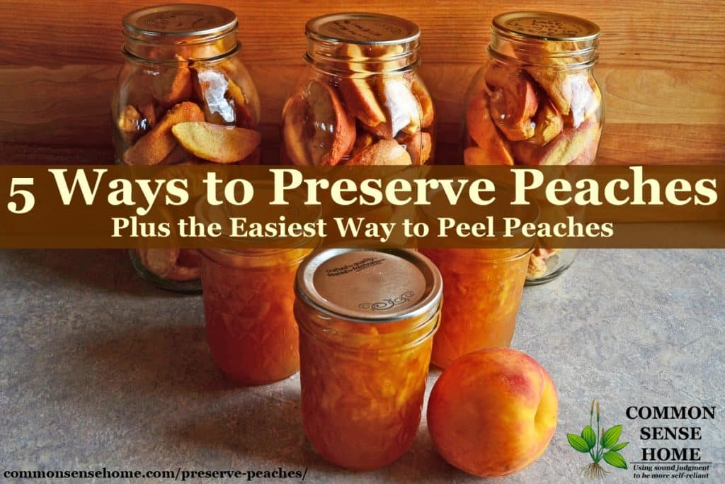 Arrangement of preserved peaches