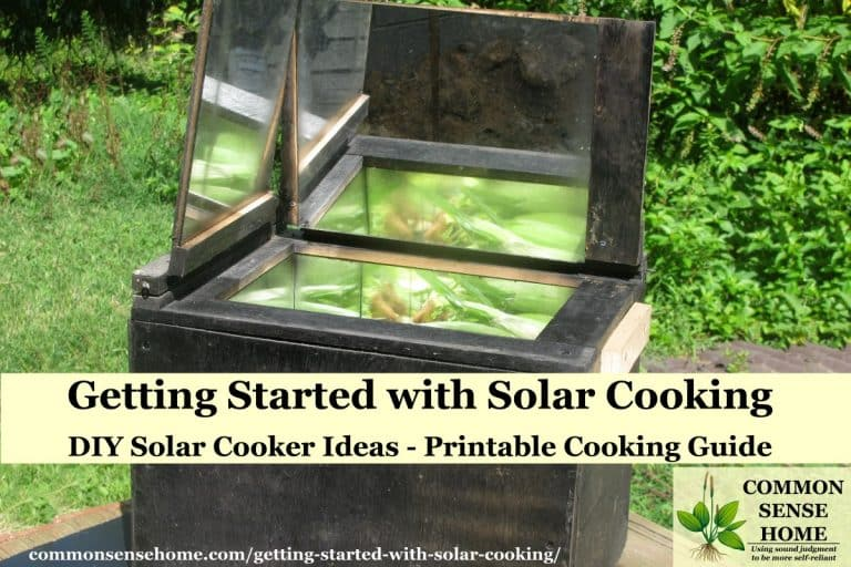 Getting Started with Solar Cooking – DIY Solar Cooker Ideas, Printable Cooking Guide