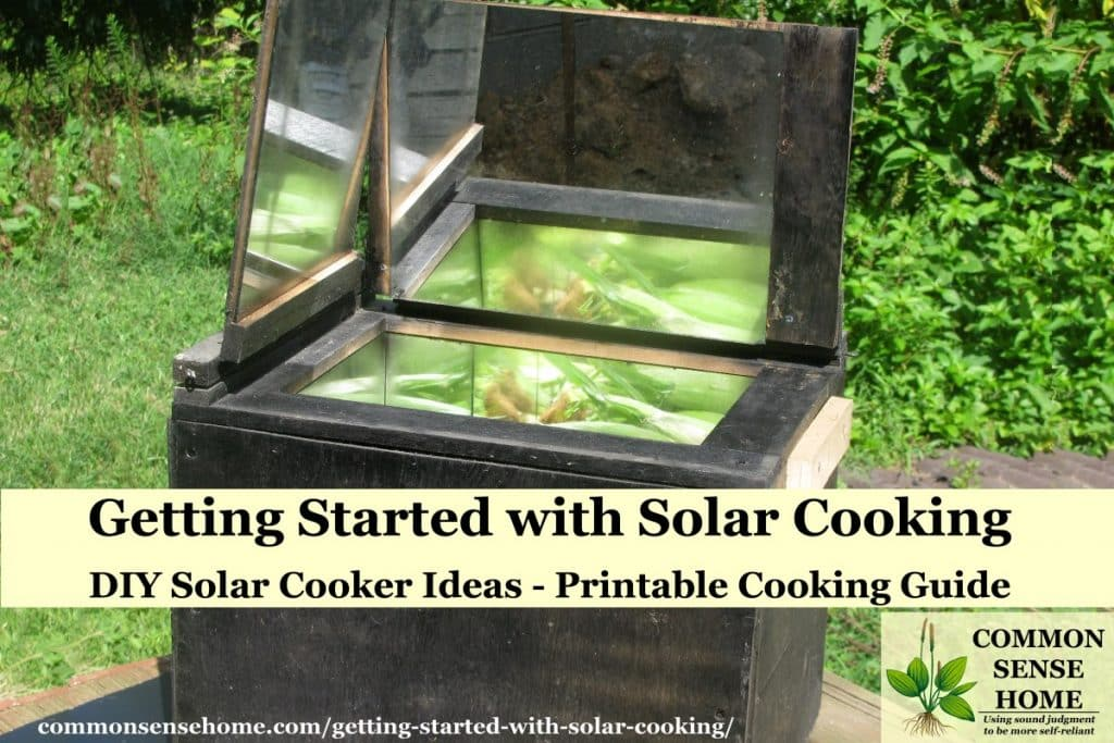 homemade solar cooker