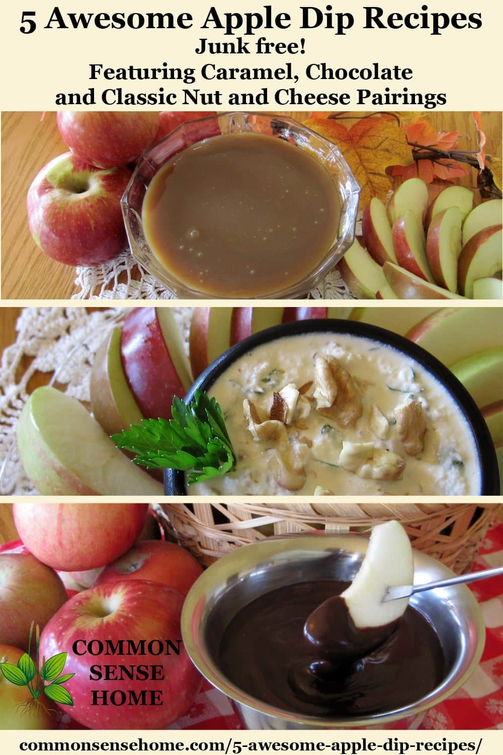 Apple dip variants