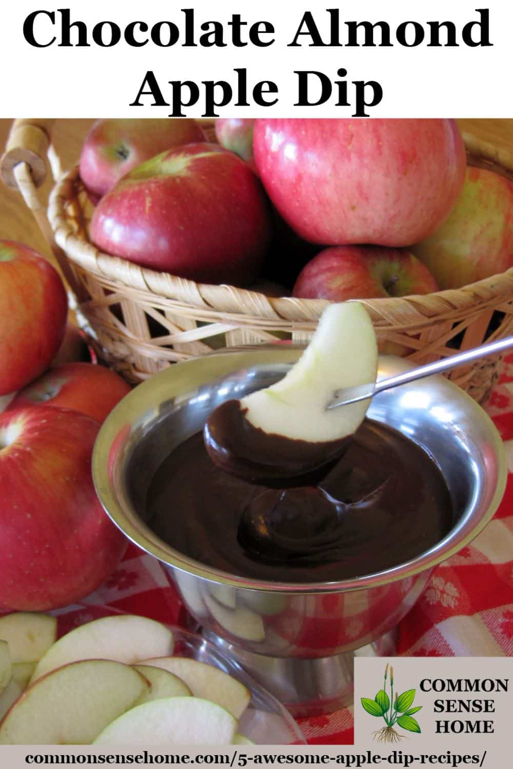 Chocolate almond apple dip