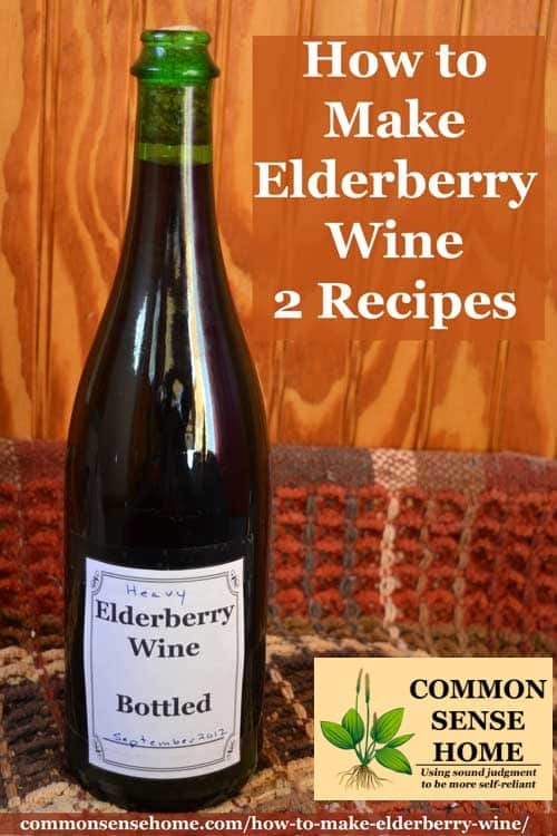 elderberry wine bottle