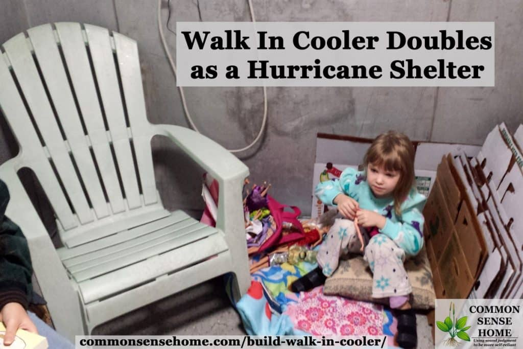 walk in cooler as hurricane shelter