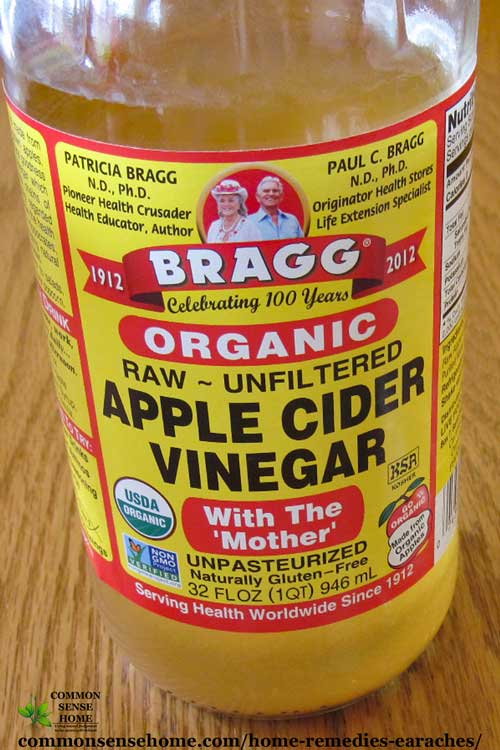 Earache remedy - apple cider vinegar