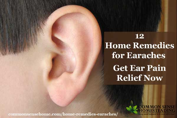 12 Home Remedies for Earaches - DIY earache remedies to help relieve ear pain, treat earaches and ear infection - plus tips for avoiding ear infections.