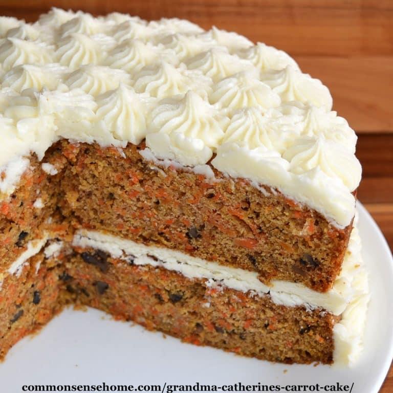Grandma Catherine's Old Fashioned Carrot Cake Recipe