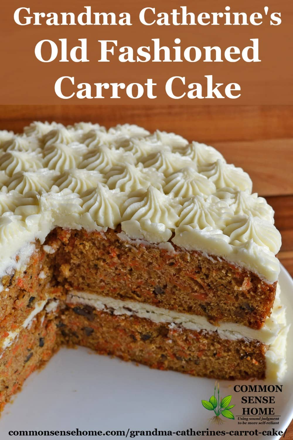 Grandma Catherine S Old Fashioned Carrot Cake Recipe