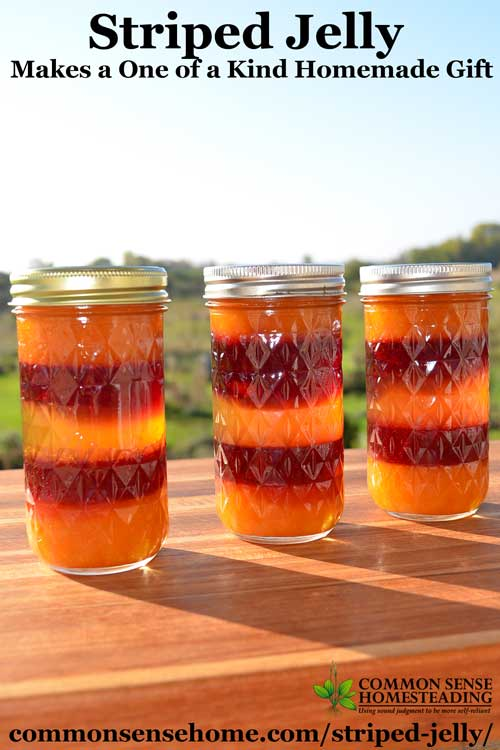 Striped jelly pours make your homemade jams and jellies look extra special. Great for gift giving, or as a premium product for your farm market stand.