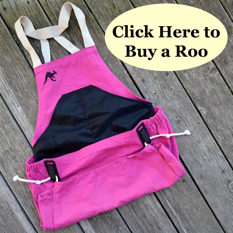 pink roo gardening apron