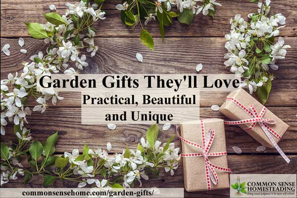 Garden gifts that are functional and fun for the devoted green thumb gardener, curious youngster or gardener that's ready to dive into food preservation.