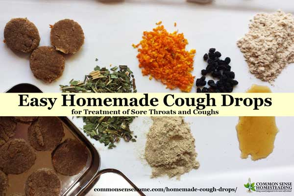 Two homemade cough drop recipes - chocolate and orange cough drops and herbal cough lozenges tailored for your specific combination of symptoms.