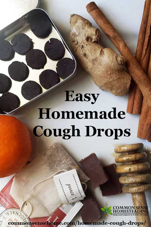 Two homemade cough drop recipes - chocolate and orange cough drops and herbal cough lozenges