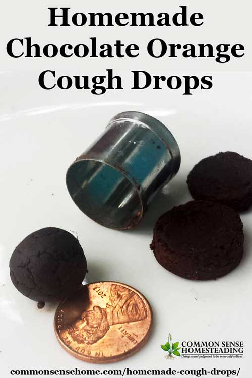Two homemade cough drops recipes - chocolate and orange cough drops and herbal cough lozenges tailored for your specific combination of symptoms.
