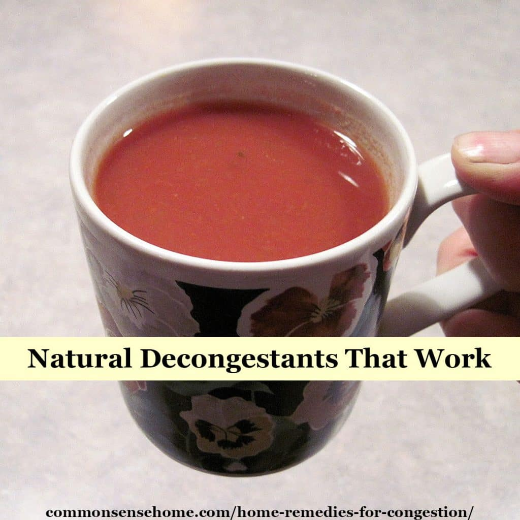 natural decongestant tea
