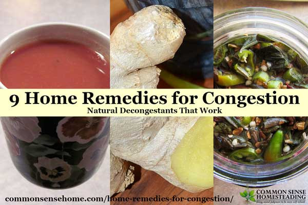 9 Home Remedies for Congestion - Natural Decongestants That Work