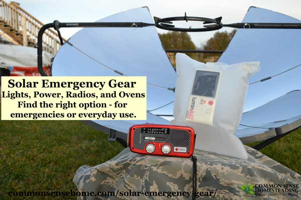 Solar emergency gear isn't just for summer or warm climate areas. The new generation of solar gadgets and tools can be used year round - even in cold temps.