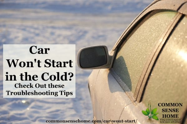 Car Won't Start in the Cold? Check Out these Troubleshooting