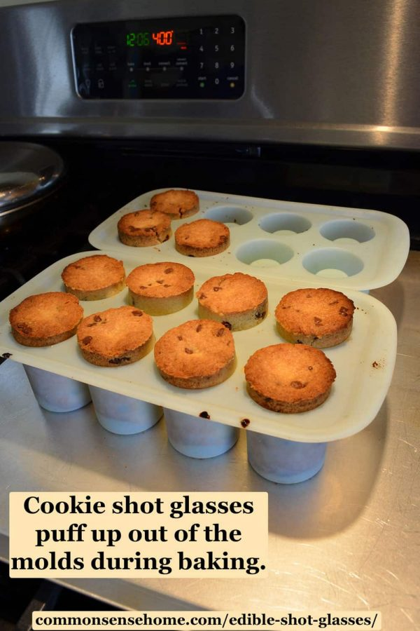 chocolate chip cookie shot glasses