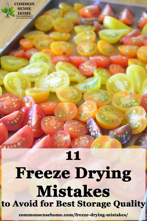 11 Freeze Drying Mistakes you should avoid to get the best results for your food and your freeze dryer. Shorten drying time, improve flavor and stay safe!