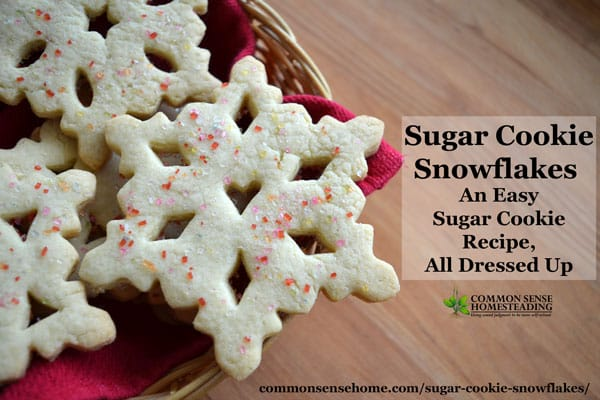 "This easy to make sugar cookie recipe requires no chilling, so it takes just minutes to get from bowl to oven. Learn the ""trick"" for successful snowflakes."
