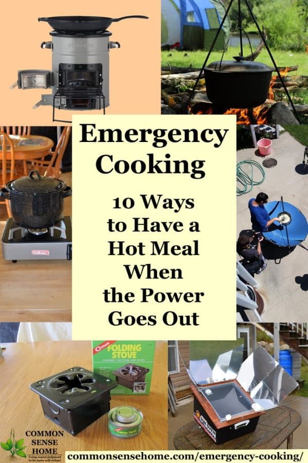 emergency cooking collage