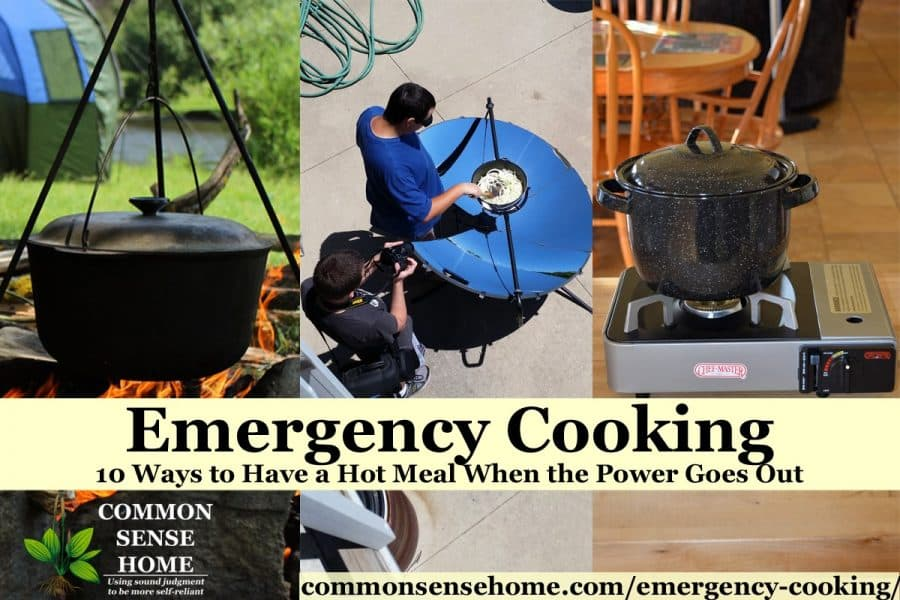 emergency cooking methods