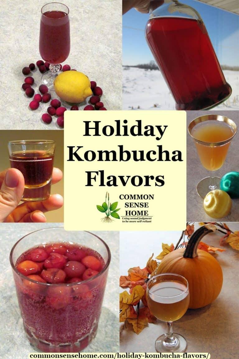 Holiday Kombucha Flavors for Unique Seasonal Drinks