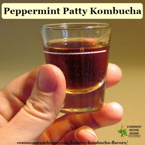 holiday kombucha flavors - peppermint patty
