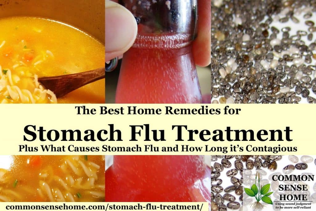 stomach flu treatments