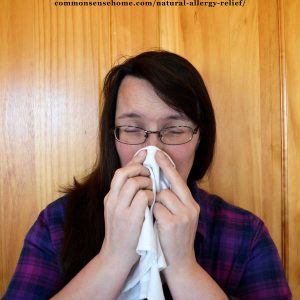 woman with seasonal allergies