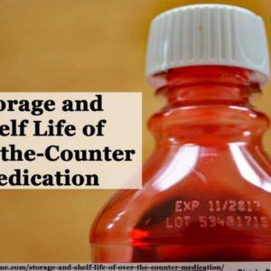 storage of otc medication