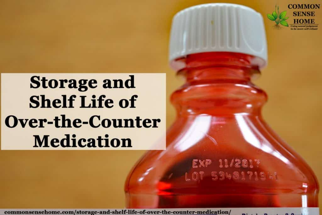 storage of otc medication