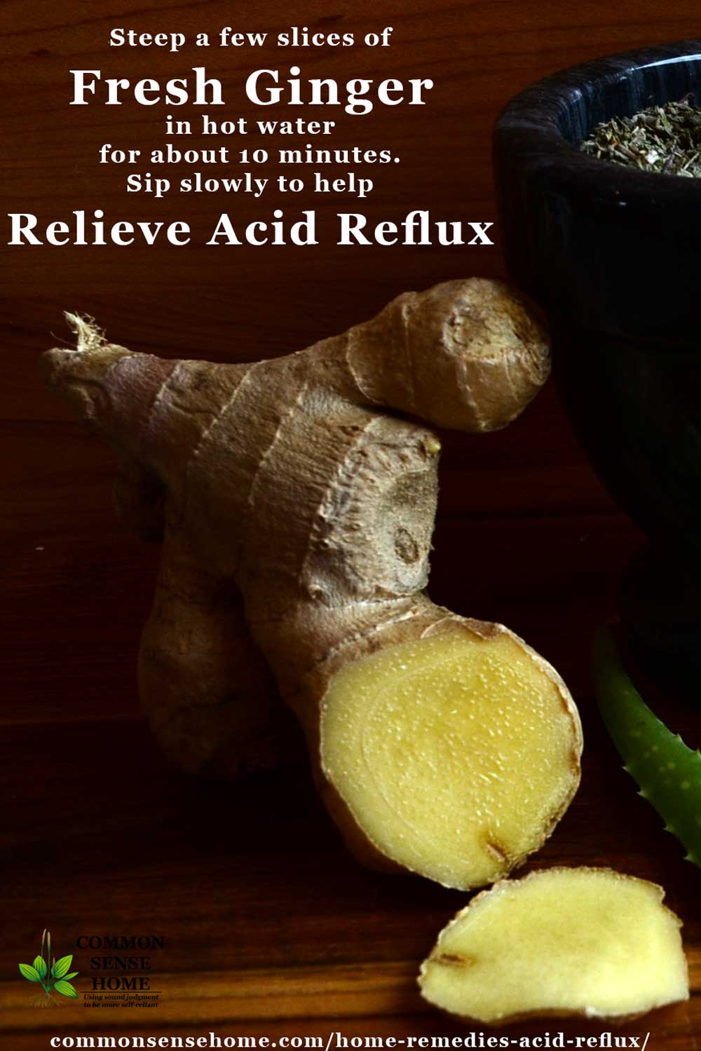Ginger root for acid reflux relief