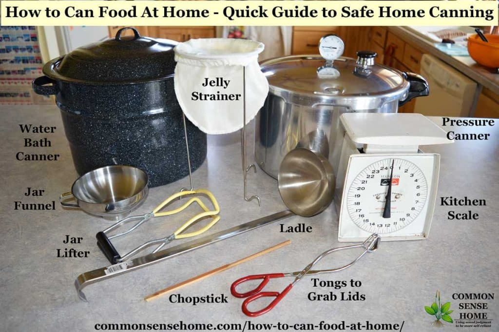 Equipment to can food at home