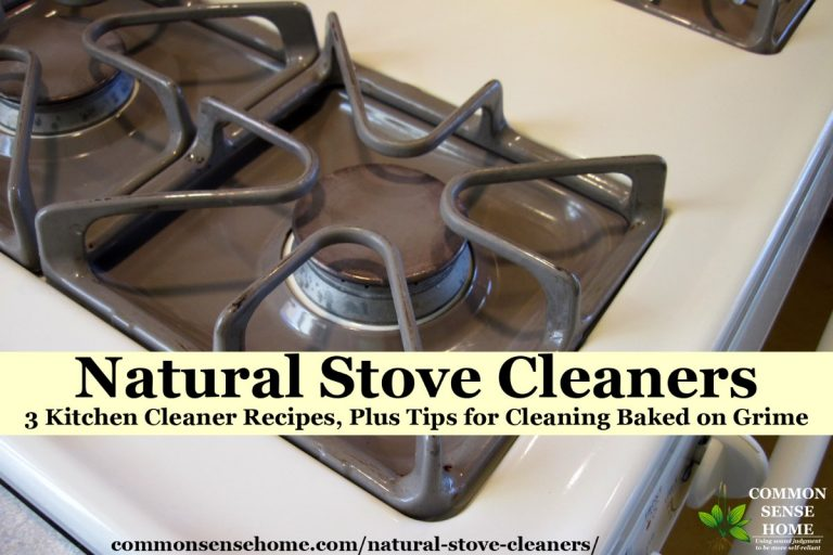Natural Stove Cleaners – 3 Kitchen Cleaner Recipes, Plus Tips for Cleaning Baked on Grime