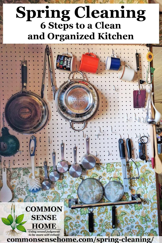 Organized kitchen implements