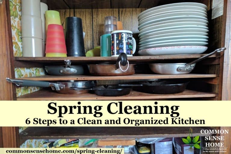 Spring Cleaning – 6 Steps to a Clean and Organized Kitchen