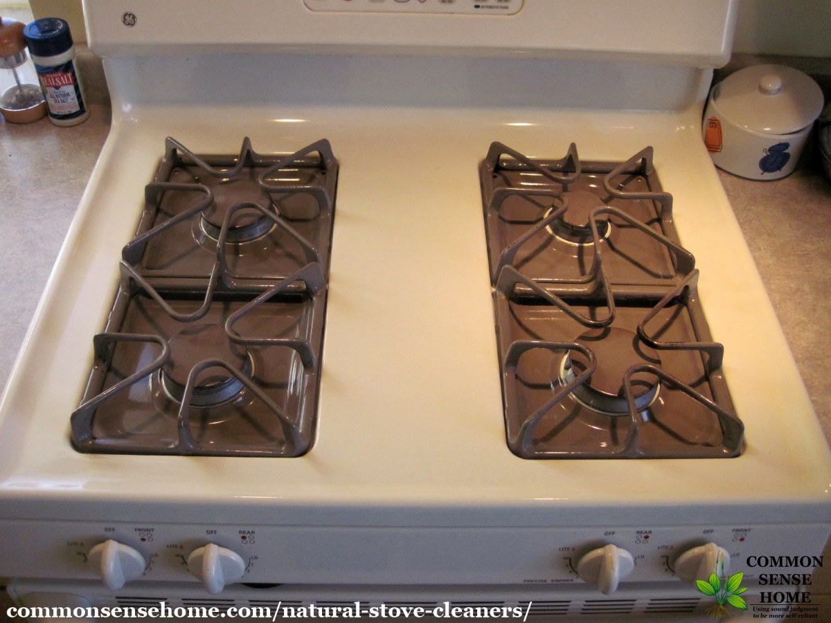 stove burners after cleaning