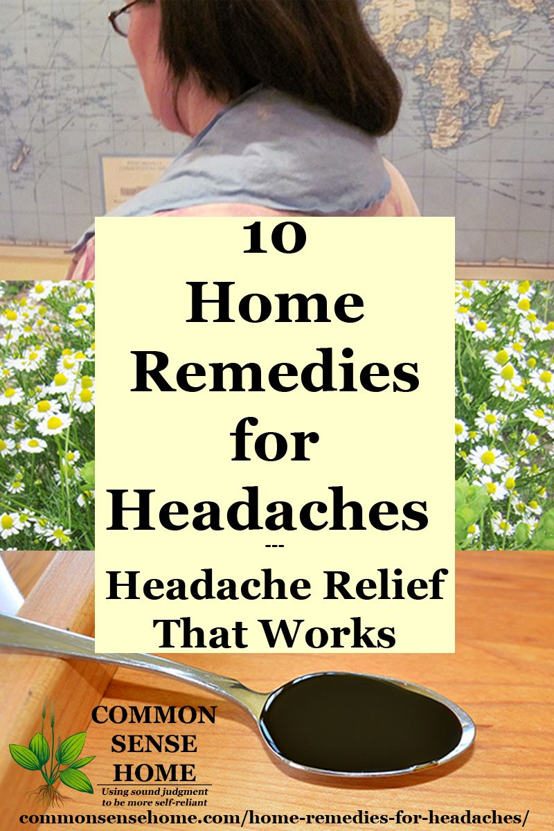 Collage of home remedies for headaches