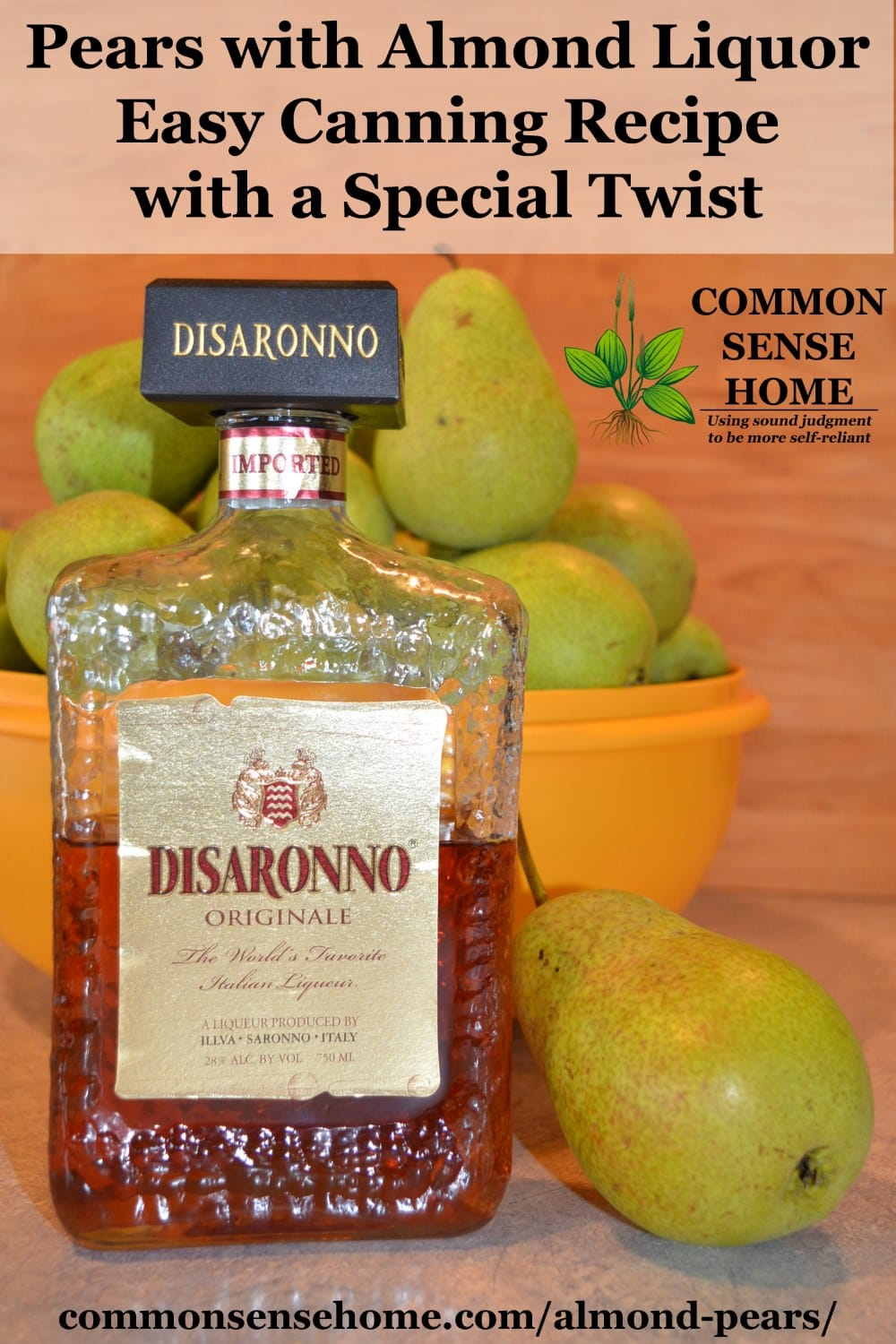 almond liquor pears